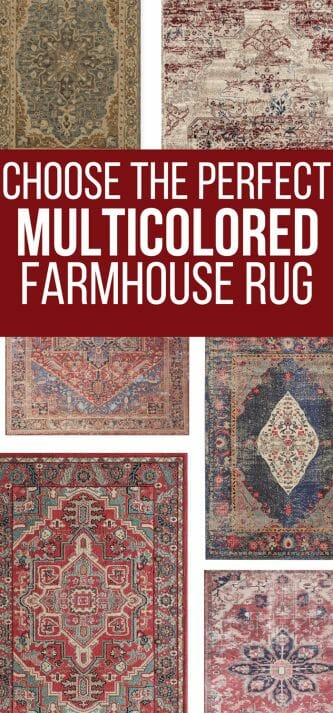 If you want to incorporate a bit of color into your farmhouse style decor, check out the huge collection of multicolored farmhouse area rugs for your home. #TwelveOnMain #rugs #farmhousestyle