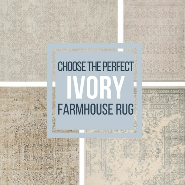 Check out this stunning collection of ivory farmhouse area rugs and be inspired to add one of them to your homes decor today!