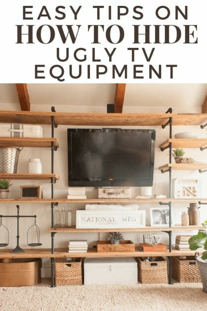 Looking for easy tips on hoe to hide ugly electronics in your home? What about that TV equipment or video game consoles? Check out these tips and you will be so glad you did! #TwelveOnMain #homedecor #DIY projects