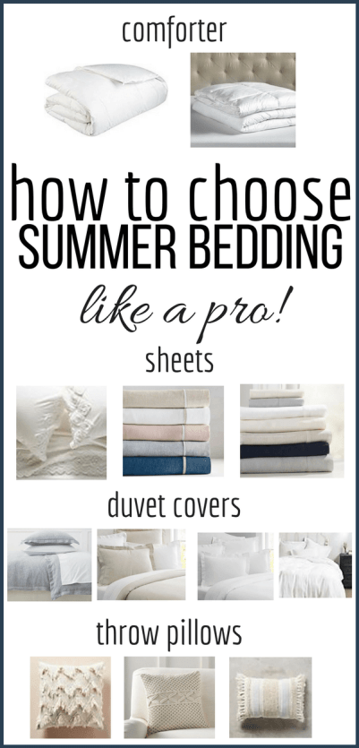 Change out your bedding this summer and create the most cozy and luxurious place to lay your head with these simple tricks and check out the my favorite summer bedding options. #TwelveOnMain #summerdecor #farmhousedecor #bedroom