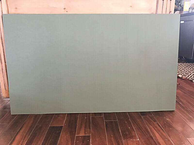 how to make a vintage green chalkboard
