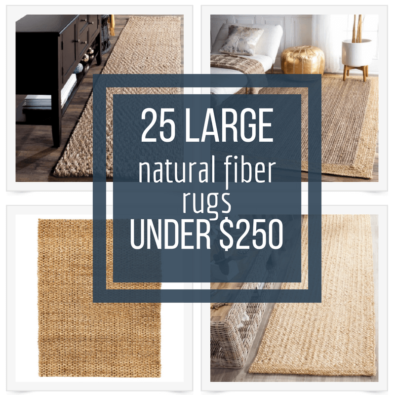 25 Large Natural Fiber Rugs Under $250