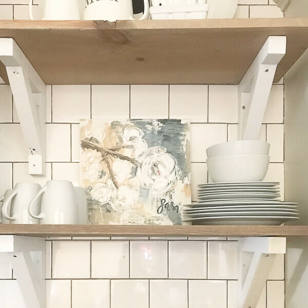 Farmhouse artwork in the kitchen? Yes please! Check out this source!
