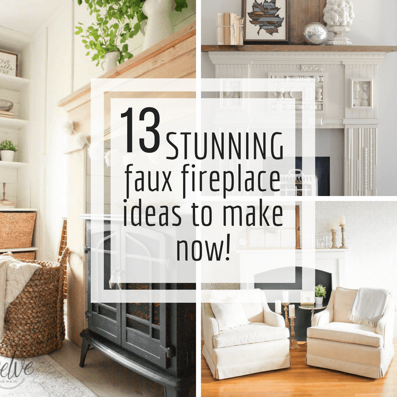 Make one of these stunning DIY faux fireplace ideas for your home today and enjoy it all year long!