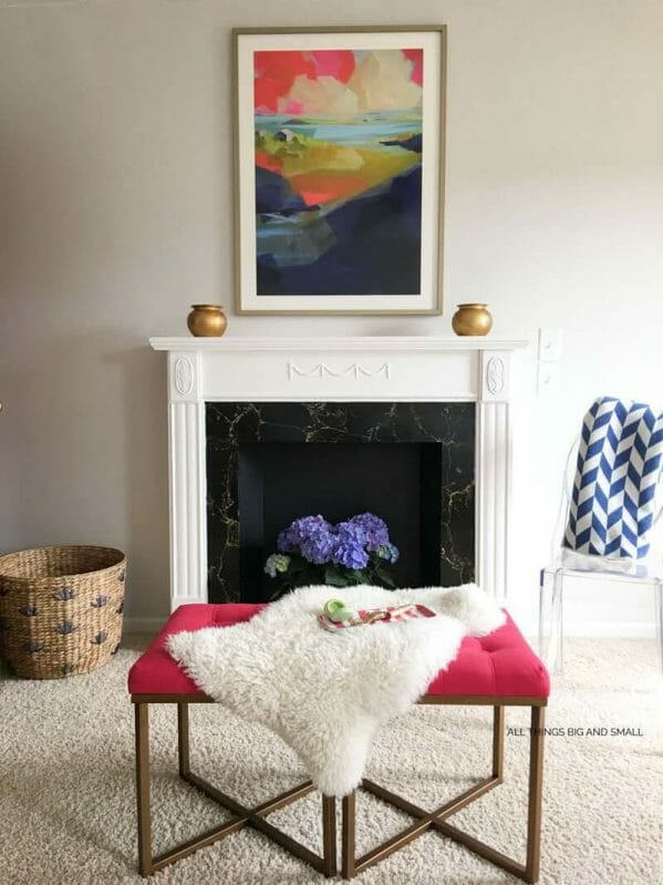 Tons of DIY fake fireplace surround ideas for your home!