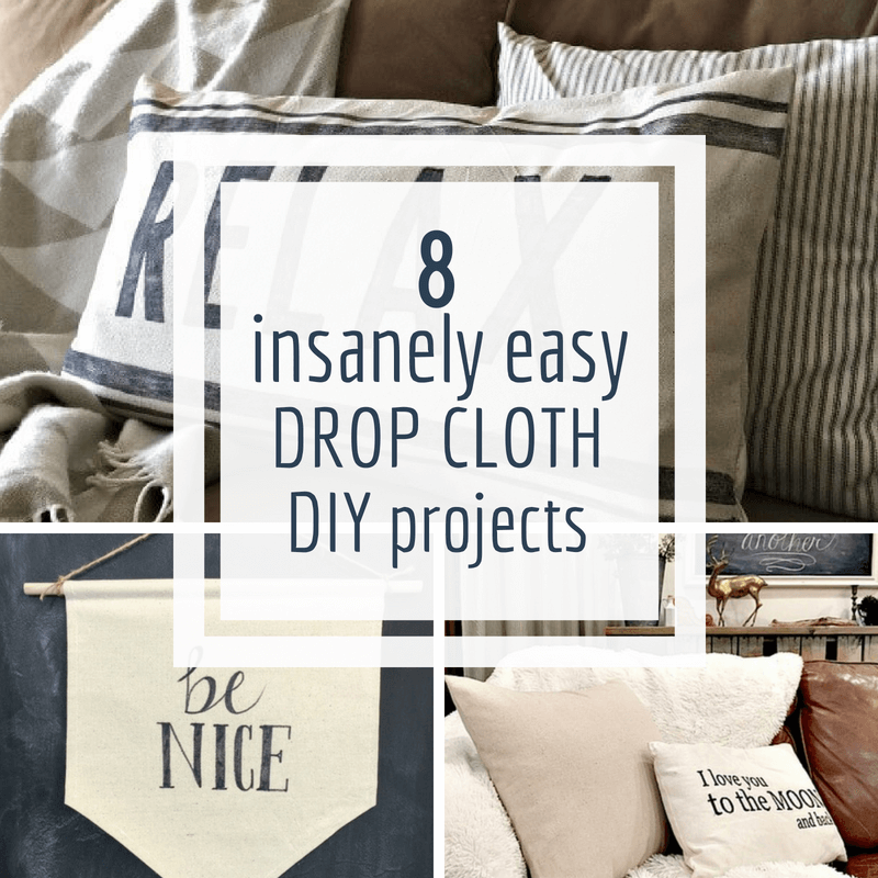 10 Insanely Easy Painters Canvas Drop Cloth Projects to do Right Now!