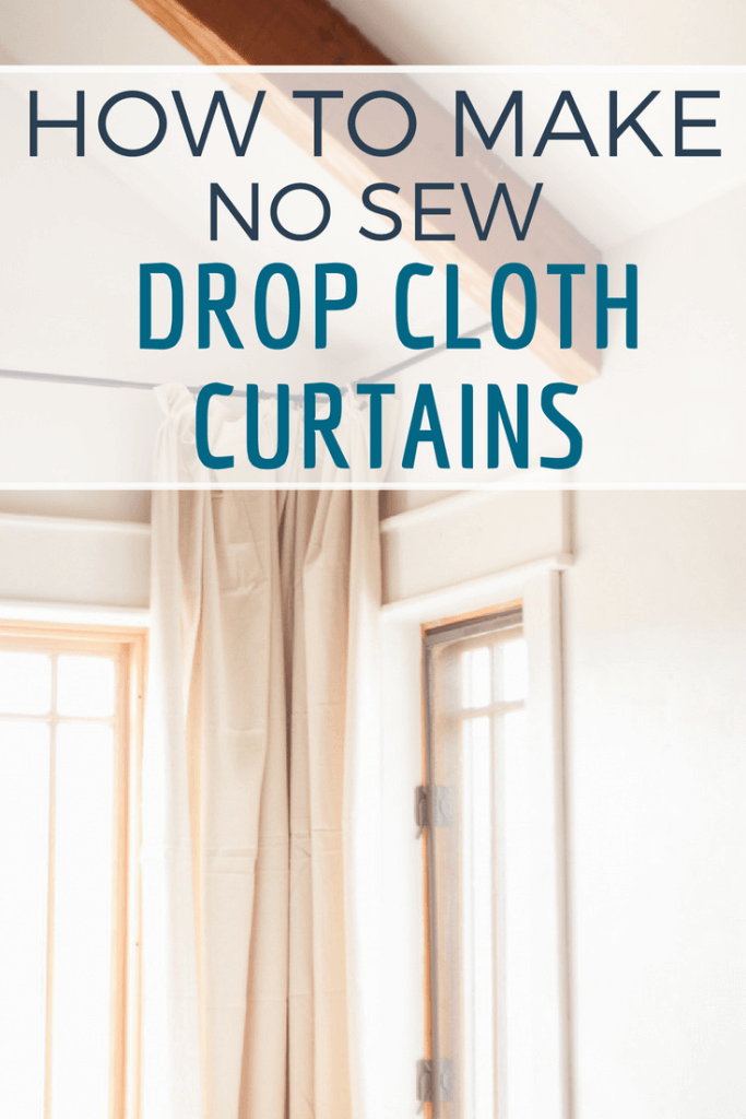 How to make the easiest no sew drop cloth curtains for your home! Check out this full tutorial and make some now! #TwelveOnMain #homedecor #