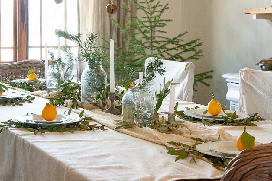 Be inspired by this Scandinavian style Christmas table