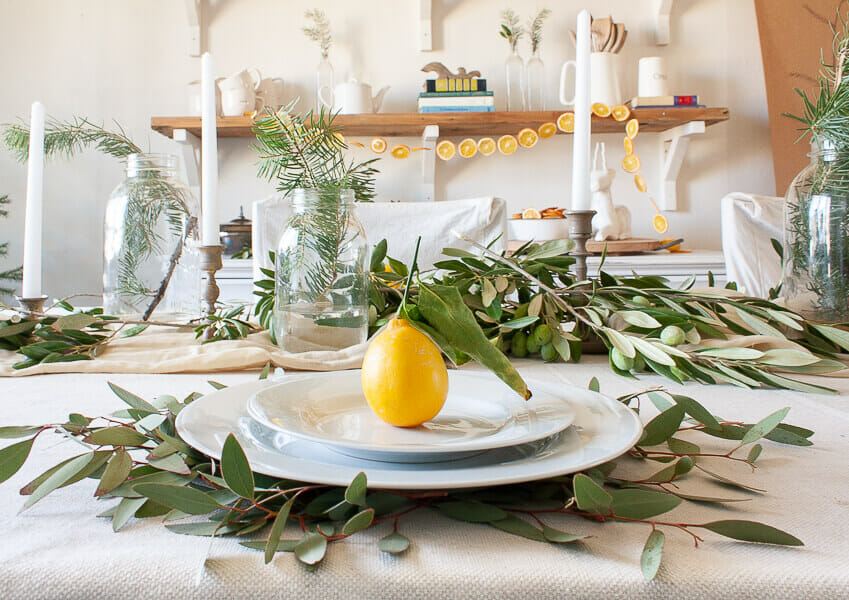 Scandinavian inspired Christmas tablescaoe full of hygge and texture