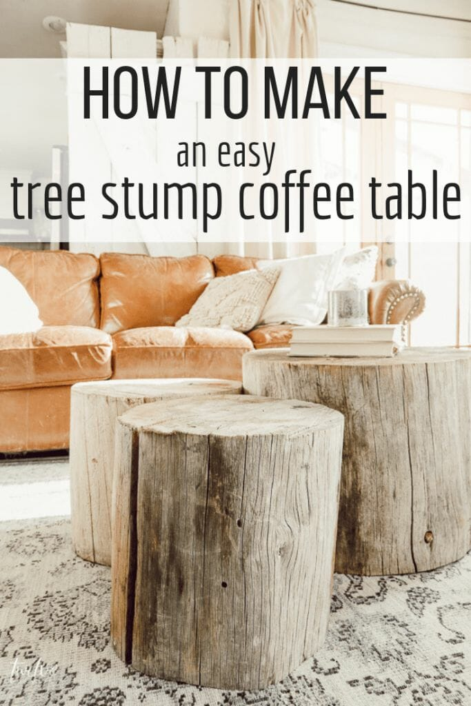 Want a unique and stylish coffee table that nobody else has? Learn how to make your own tree stump coffee table and wow everyone that comes into your home. Its unique, rustic, versatile decor that everyone will envy