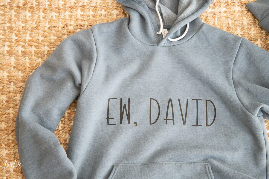 I made this Schitts Creek sweatshirt with my Cricut Easy Press 2! Come see how easy it was!