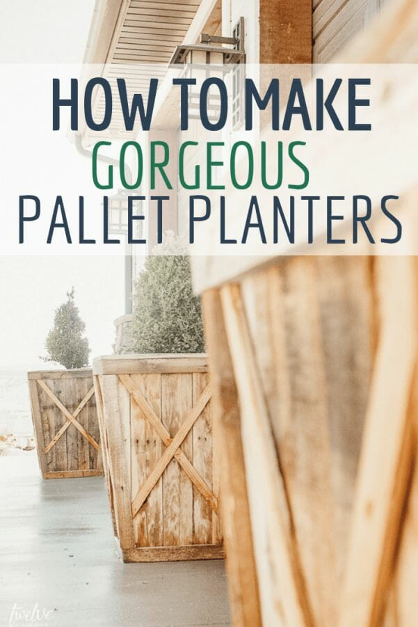 How to turn a pallet into planter boxes with this full tutorial and awesome how tos.  These pallet planters are gorgeous and the perfect project for spring!