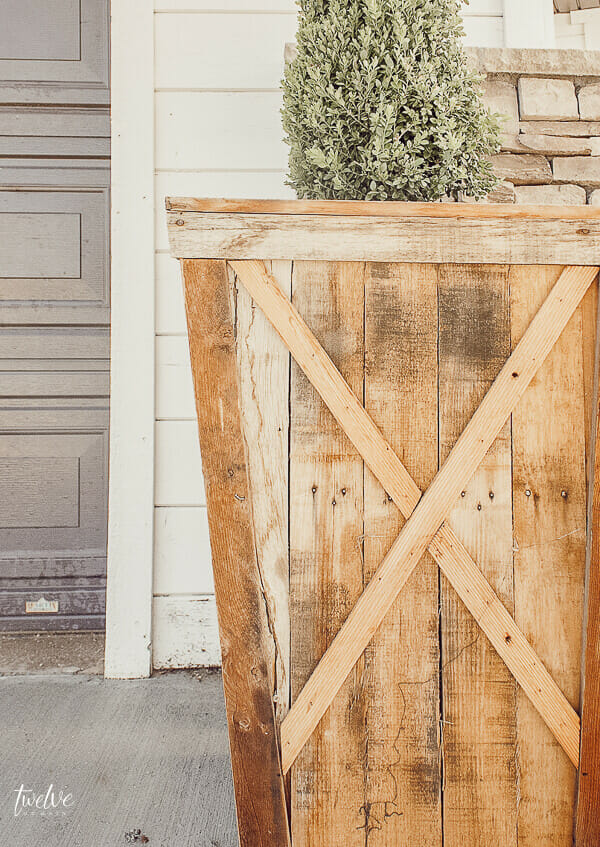 I love seeing a repurpose project like turning pallets into planter boxes!