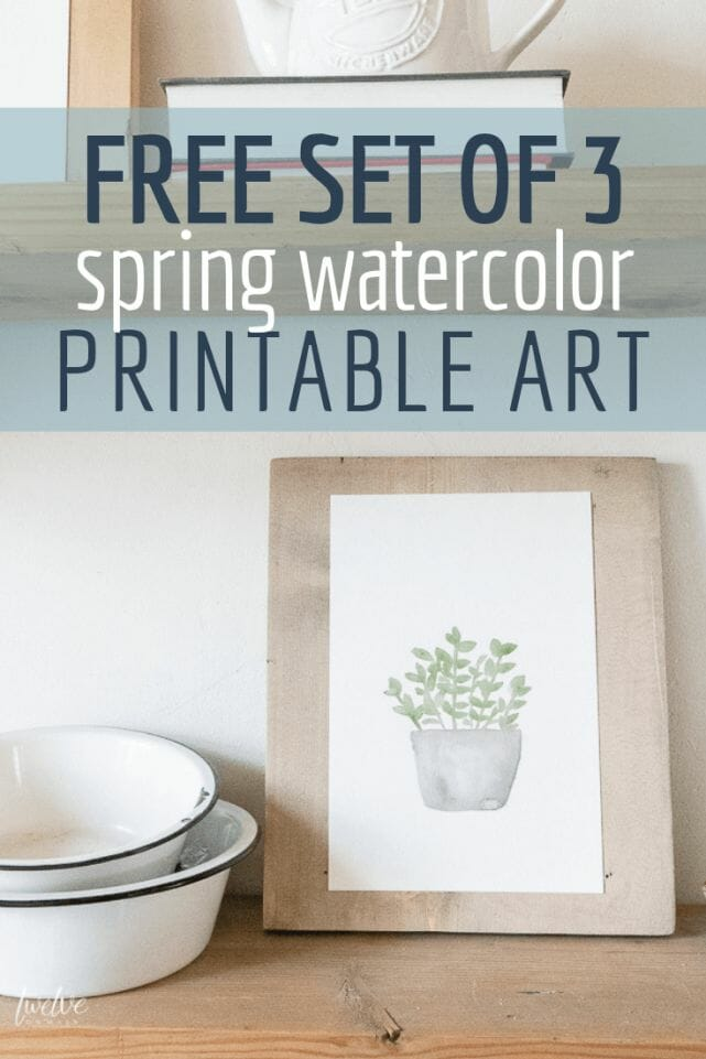 Set of 3 spring watercolor printables perfect for your home!