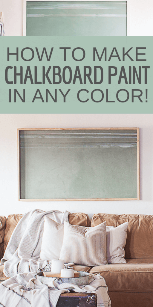 How ot make chalkboard paint in any color want?  Yes!  See how easy it is to make chalkboard paint in any custom color you might want!