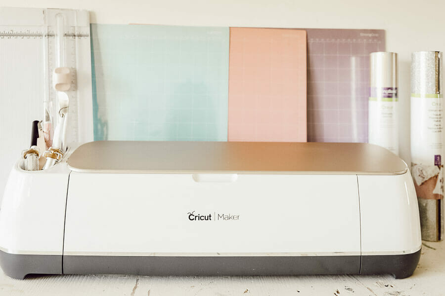 The Cricut Maker machine in rose gold.  Gorgeous and functional!