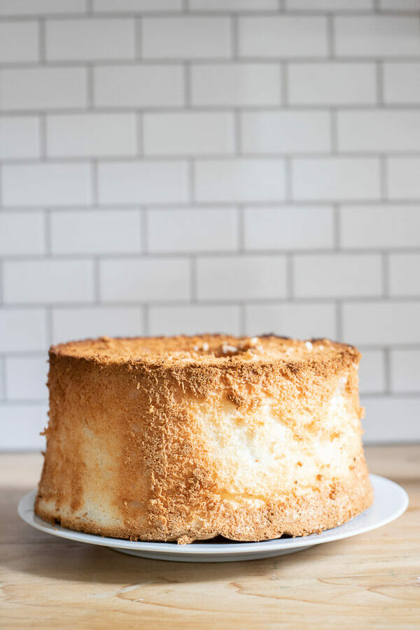 Image of homemade angel food cake