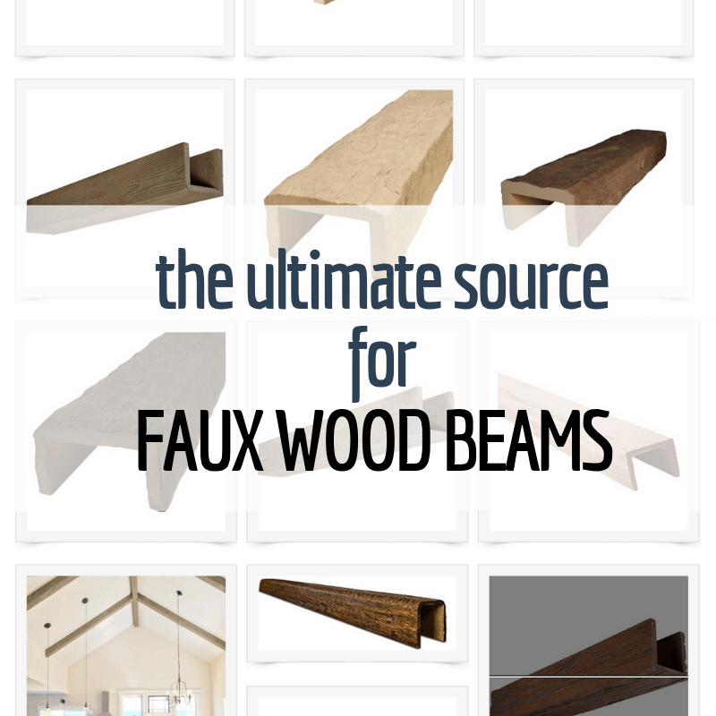 Pre-made Faux Wooden Beams Delivered Right to your Door!