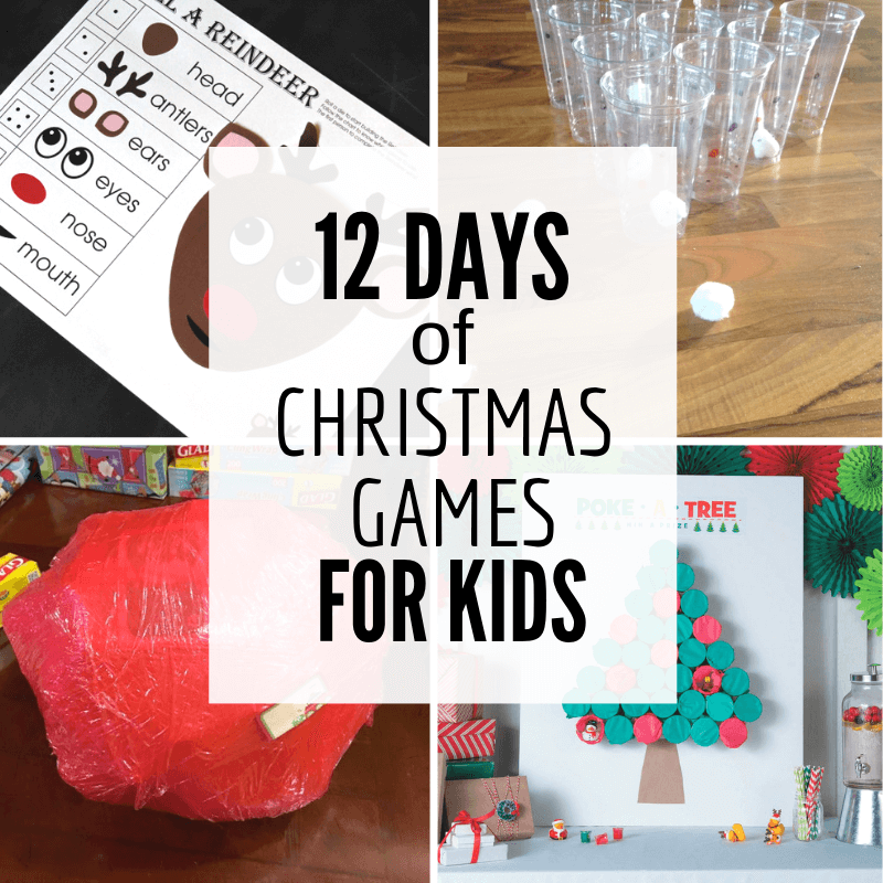 12 Days of Super Fun Christmas Games for Kids