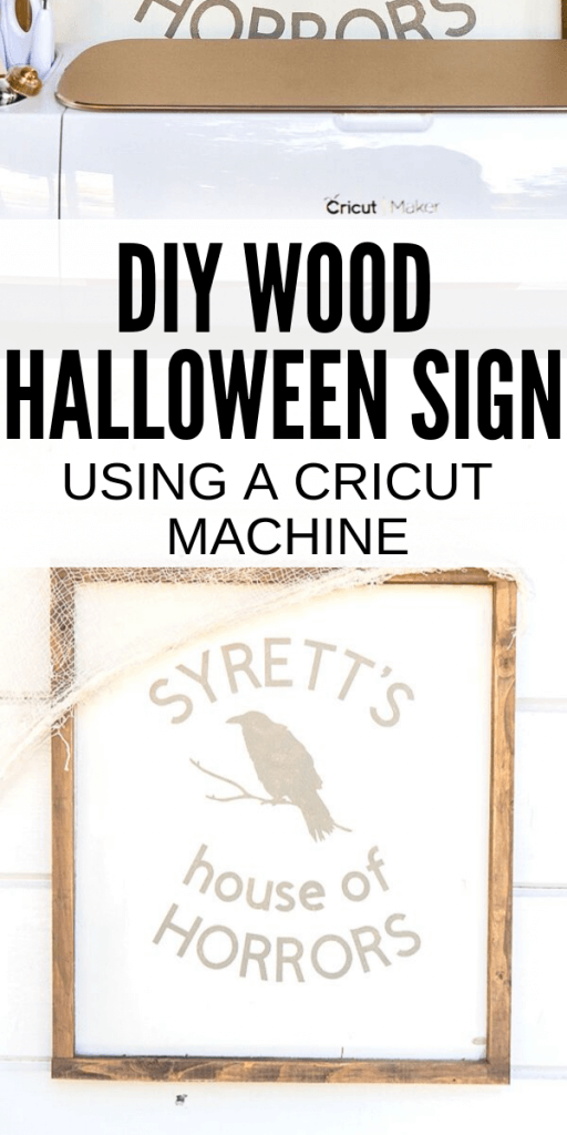 How to make an amazing wood Halloween sign! It's easy to make, and can be personalized to your own name using your Cricut Machine!