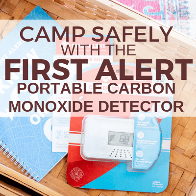 Camp Safely with the First Alert Portable Carbon Monoxide Detector