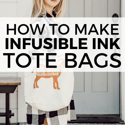How to use infusible ink to make adorable custom canvas tote bags! These are sooo cute and Infusible Ink is such a great new product to have!