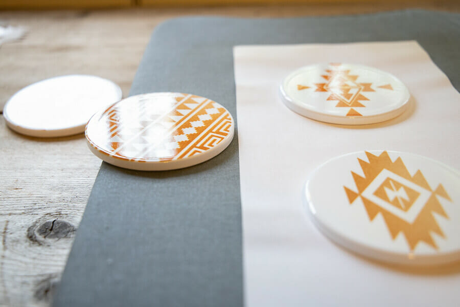 Use the new Infusible Ink to make amazing stylish coasters, custom shirts and more!