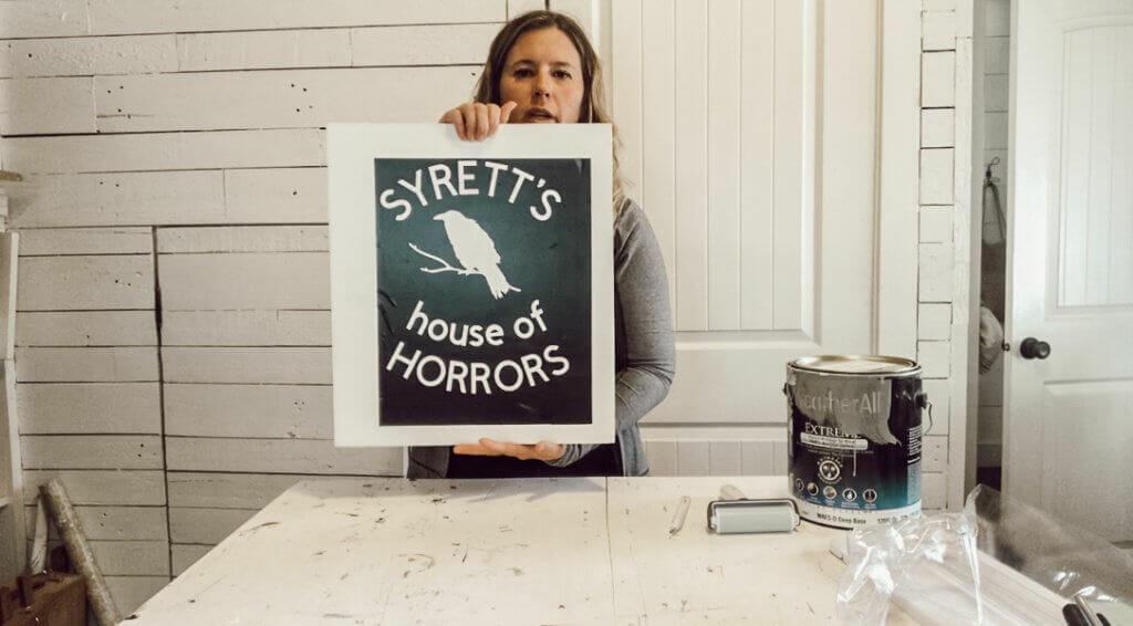 How to make an easy Halloween sign using a custom made stencil with your Cricut Maker