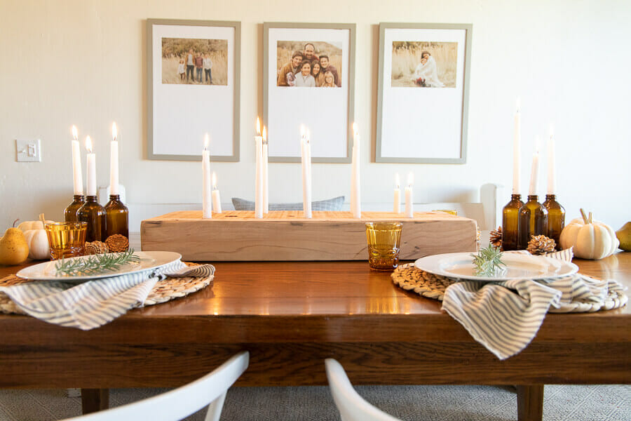 Cozy and Intimate Thanksgiving Table Decor
