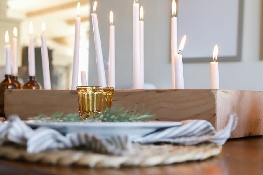 Gorgeous wood candle holder DIY project with full tutorial