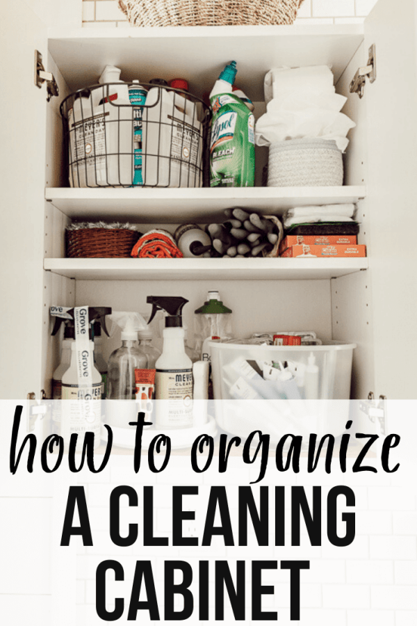 How to organize a cleaning cabinet successfully. Plus, how to incorporate healthy, natural cleaning supplies into your cleaning routine.