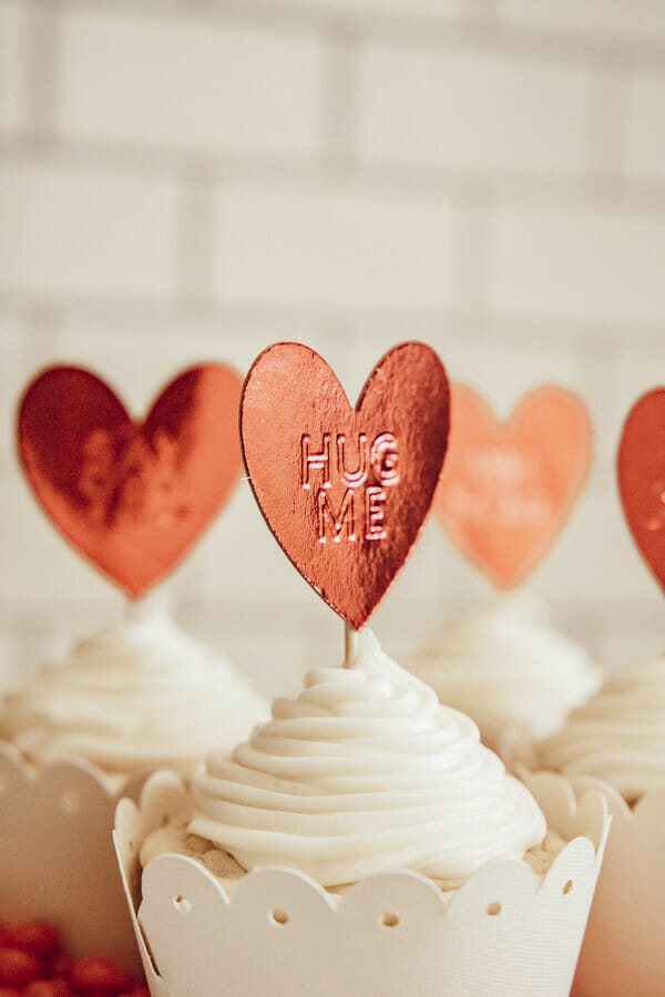 Make these adorable Valentines cupcake toppers using your Cricut Maker and their new debossing tool! Cupcakes never looked so sweet!