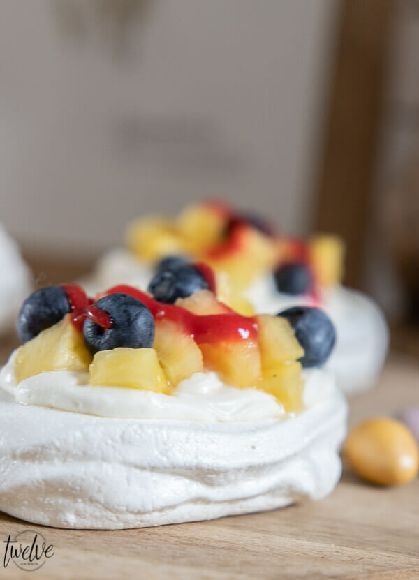 Try this amazingly easy mini pavlova dessert! Its such a hit every time I make them! They are so easy to make and easy to customize to whatever you like!