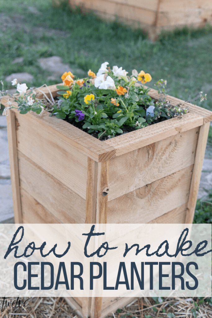 How to make super cute and inexpensive cedar planter boxes that are so easy to make and you can customize them to your hearts content~