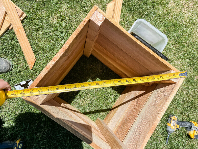 How to make sure your planter box is square