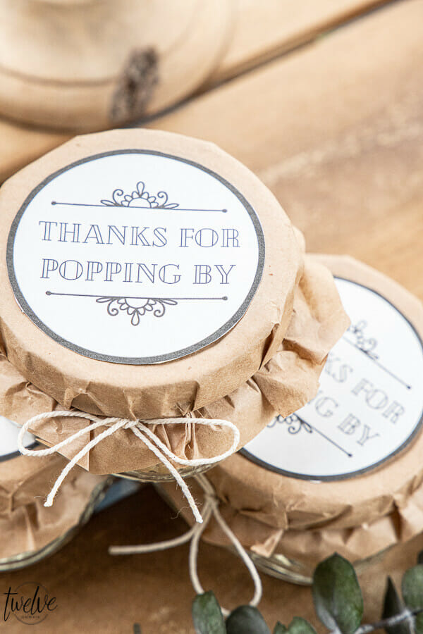 Simple and Easy DIY Wedding Favors with Printable Tags