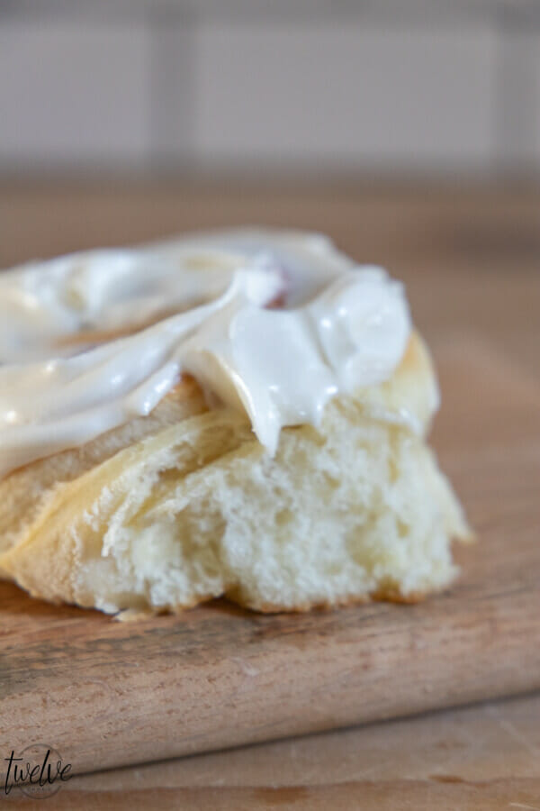 Oh my gosh these sourdough cinnamon rolls are amazing!  They are light and fluffy and take less time to make than traditional sourdough breads.  They are ooey, gooey, soft and fluffy.  Pretty much the perfect treat. Topped with cream cheese frosting, these are amazing~