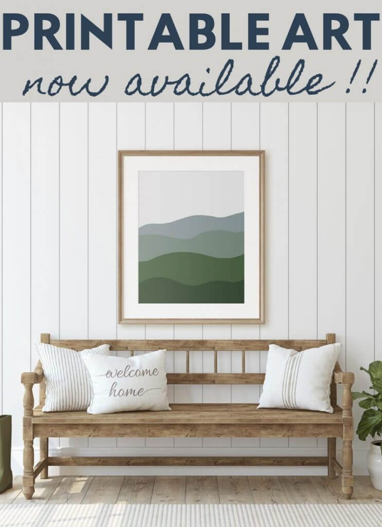 Get this gorgeous abstract landscape art printable! This is the perfect piece of art for your home, in your entry, bedroom, or living space!
