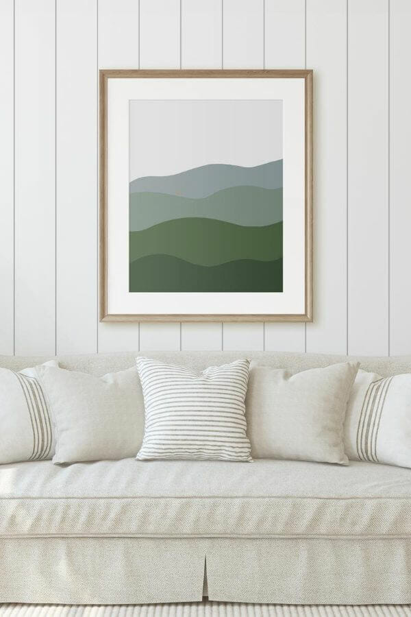 Get this gorgeous abstract landscape painting printable! This is the perfect piece of art for your home, in your entry, bedroom, or living space! This can be printed up to 40 inches wide without losing quality. It is a great affordable way to add original and unique artwork to you home!