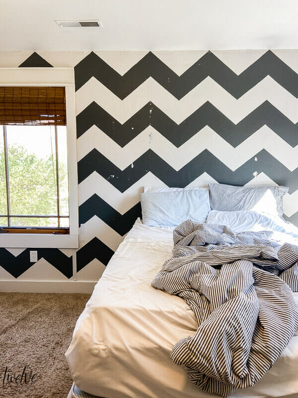 How to paint over hard to cover wall designs