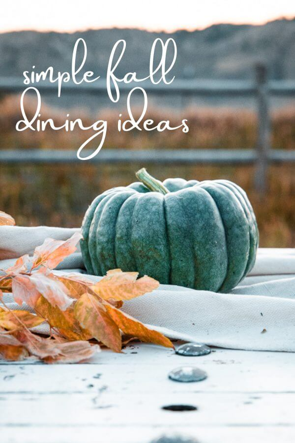 Simple fall dining ideas, using simple colors, textures, and an amazing backdrop.