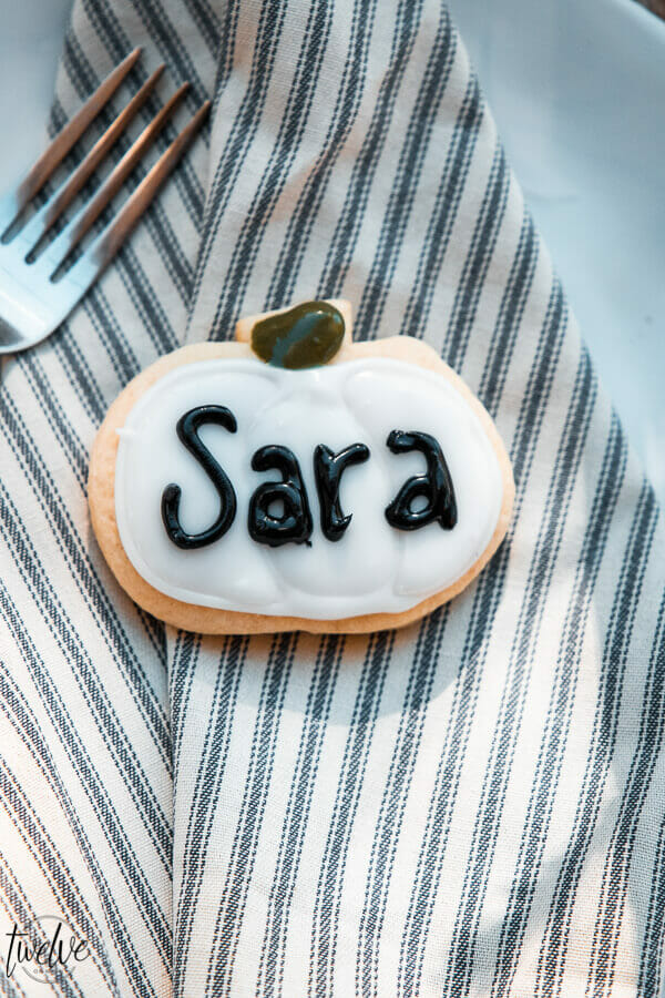 Cookie Thanksgiving Place Cards