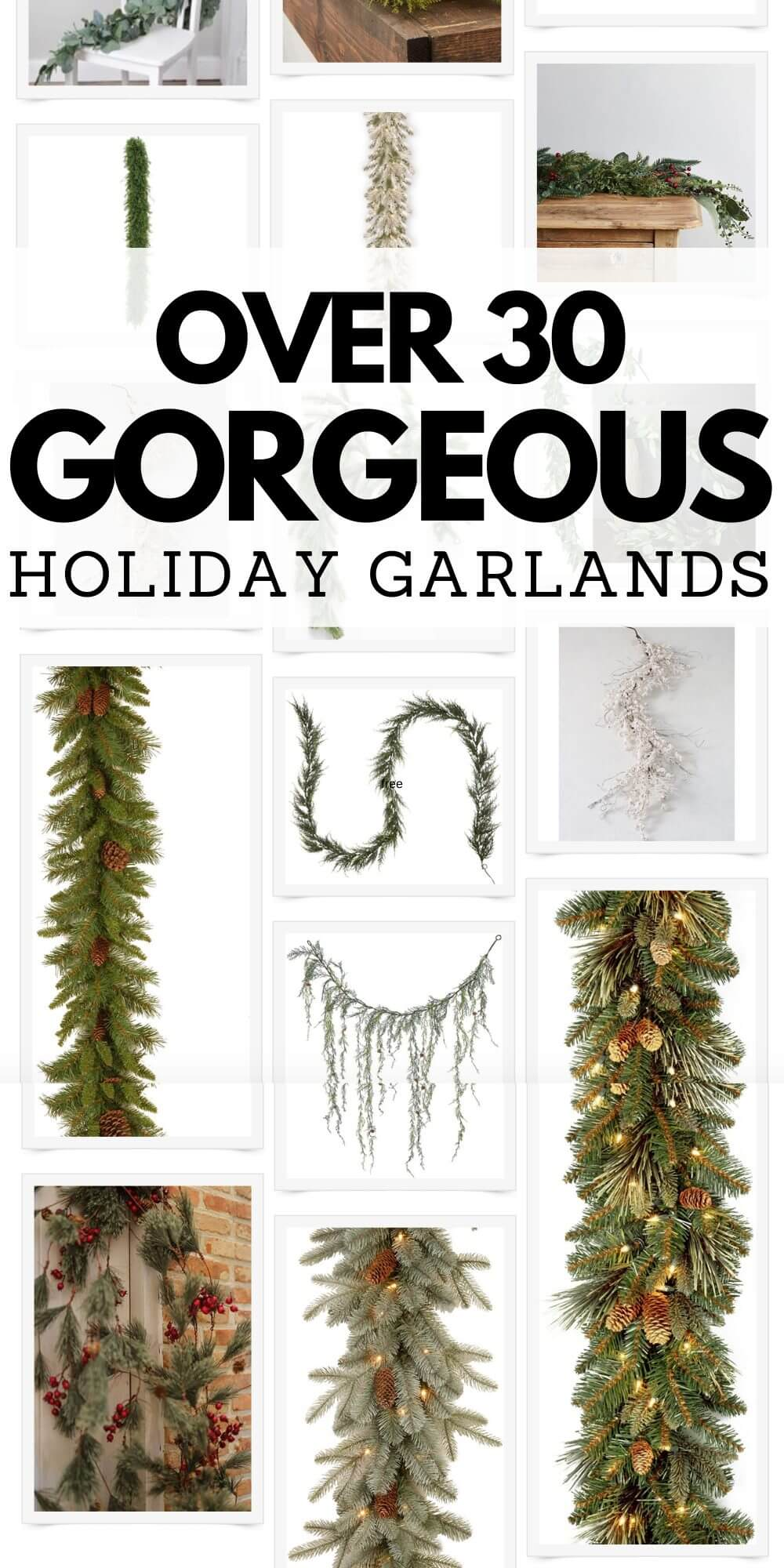 30 Gorgeous Artificial Garland Products for the Holidays