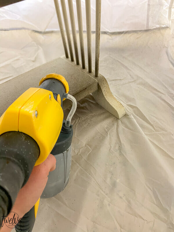How to use a Wagner paint sprayer to paint furniture with confidence and ease.  There are a couple simple steps to creating a beautiful finish.