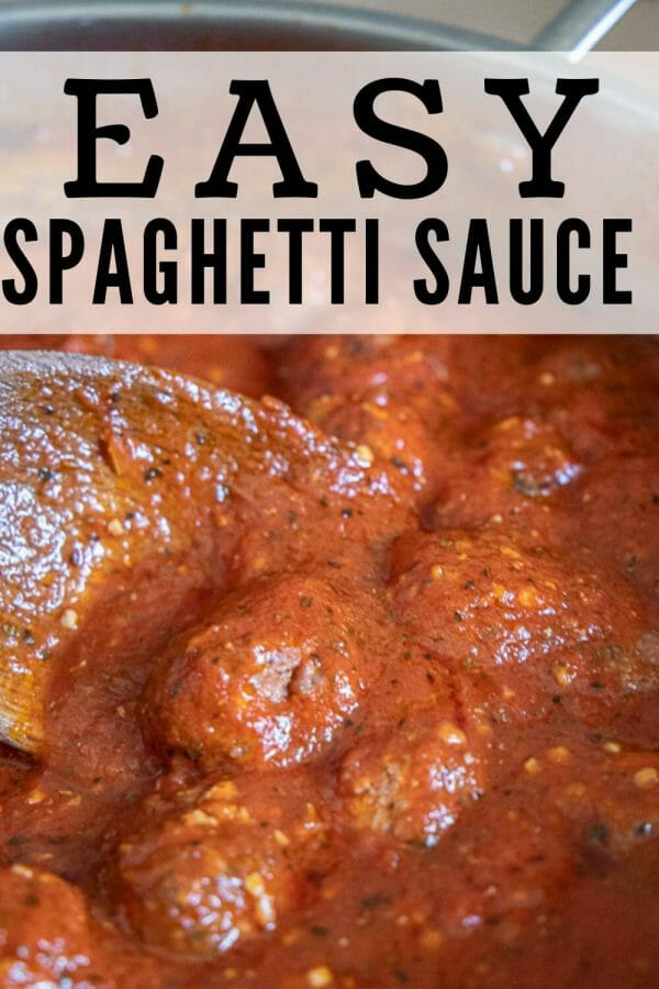 How to make amazing homemade spaghetti sauce with simple ingredients and in less than 30 minutes! It is so much better than store bought and is super easy to make.  You will know exactly what you are feeing your family too. I love being in control of the ingredients in my food.