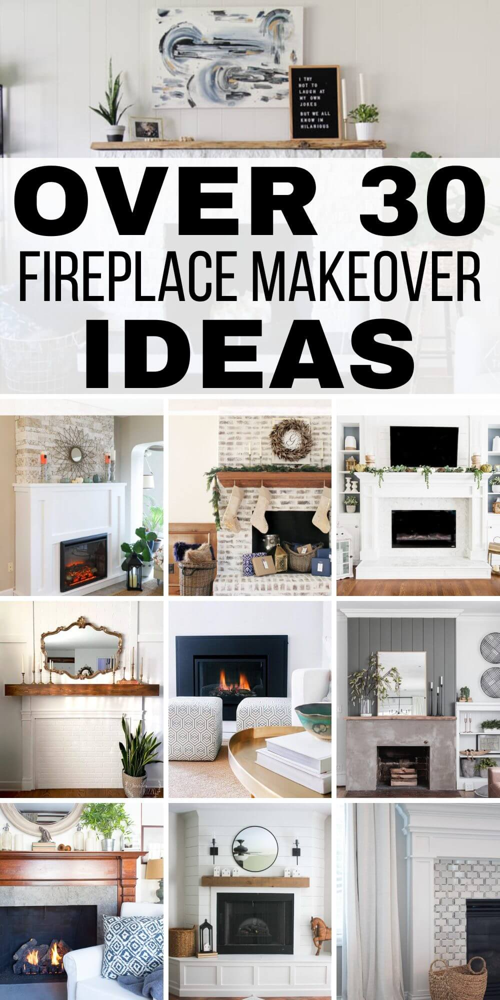 Over 30 Amazing Fireplace Makeover Ideas